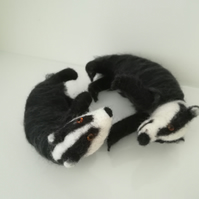 Playtime, Badger cubs playing