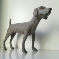 Weineramer, dog sculpture, wool needle felted