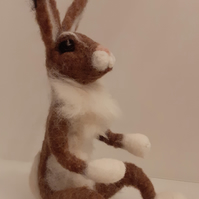 Hermione,Hare,wool needle felted,collectable