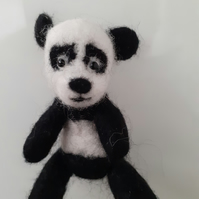 Panda needle felted wool,