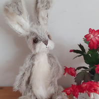 DYLAN, Artist character rabbit, Handcrafted, mohair, poseable, ooak,collectable,