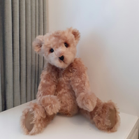 """ RUFUS "" ,Handmade,ooak,collectable, Teddy Bear, mohair, jointed, poseable"