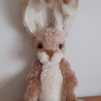 OLIVER Handcrafted artist character Rabbit mohair fabric jointed poseable OOAK c