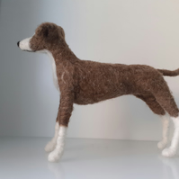 Greyhound dog,ooak,collectable, pets needle felted wool