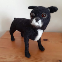 Chihuahua dog pet sculpture ooak,collectable