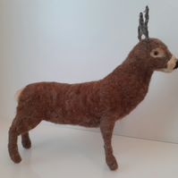 Red deer  stag,ooak,collectable  needlefelting artist,needle felted