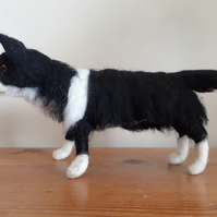 Needle felted wool sculpture ooak,collectable Border Collie dog