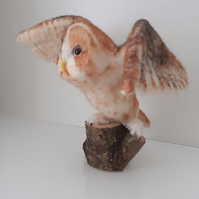 Barn Owl kit, needle felted, felting