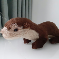 Otter, Handmade artist Teddy, character ooak,collectable mohair