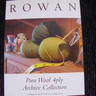 Rowan Pure Woll 4ply Archive Collection of 8 Knitting Patterns