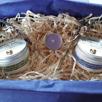Luxurious Hand & Foot Gift Box. Natural Organic. Hand Cream and Foot Lotion