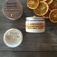 Sweet Orange Body Lotion. Natural, Organic, Essential. 150ml Moisturiser