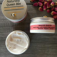 Rose Geranium Hand Cream. Natural, Organic Essential. Hand lotion. Gardeners