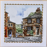 RURAL ENGLAND (SCENE 7) 3D Decoupaged Greeting Card