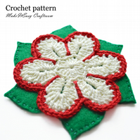 Flower coasters crochet pattern