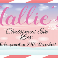 Kids Personalised Christmas Eve Box Plaque