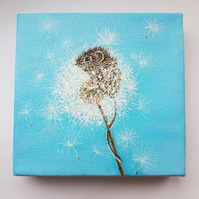 Mouse in dandelion chunky canvas