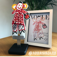 Made To Order - Child's Drawing into Glass Sculpture Keepsake