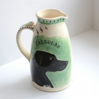 Custom pottery jug based on your own dog