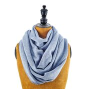 Infinity scarf for men in lambswool, silk and cashmere