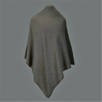 Lambswool and angora poncho