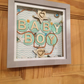 Box frame Baby Boy shelf or wall decoration, baby gift.