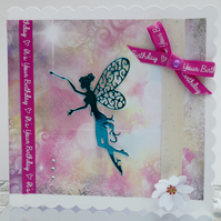 Fairy Birthday card, Birthday card, A6, Card for her, nan, wife, girl, neice,