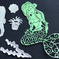 5 x DIE CUT MERMAID SET scrapbook card making embellishments accessories cutting