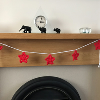 Christmas Red Star Bunting