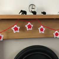 Crocheted Star Bunting