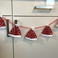 Crocheted Christmas Hat Bunting