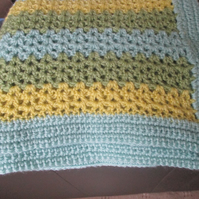 Crocheted Green Blanket
