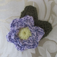 Crocheted Purple Flower Brooch
