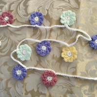 Crochet Length of Floral Bunting