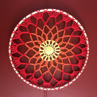 Crocheted Sunburst Mandala Hanging Decoration