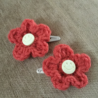 Crochet Flower Hairclips