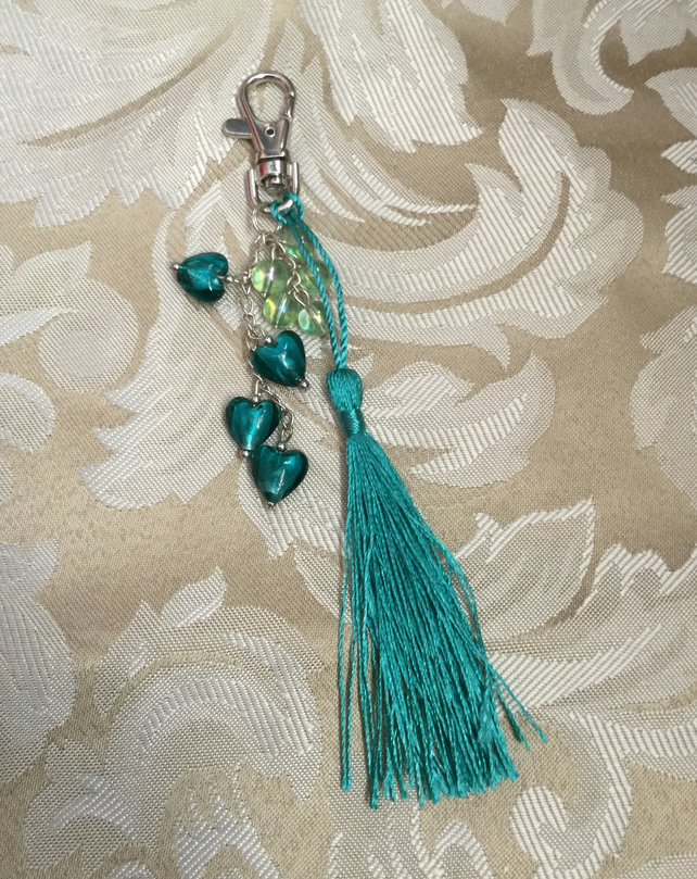 Tassel and Bead Handbag Charm
