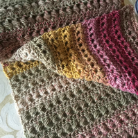 Variegated Bead Stitch Scarf