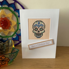 Cross Stitched Card with Sugar Skull