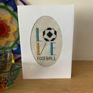 Love Football Cross Stitched Card
