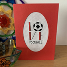 Love Football Cross Stitch Card