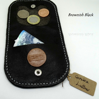 Coin wallet pouch in Genuine Leather Various colours available, Hand Made
