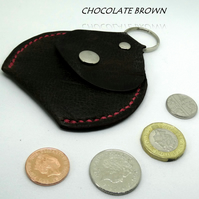 Coin Pouch Key fob in Genuine Leather Various colours available, Hand Made