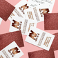 Glitter Backed and Foiled Business Cards