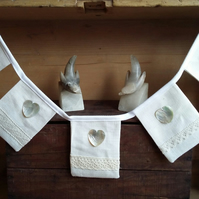 Linen Lace and Shell bunting.