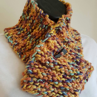 Multi-Coloured Chunky Knit Neck Warmer