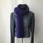 Super Soft Indigo Chunky Knit Scarf