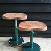 Adjustable Industrial Stool recycled