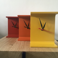 Recycled I Beam Metal Clocks