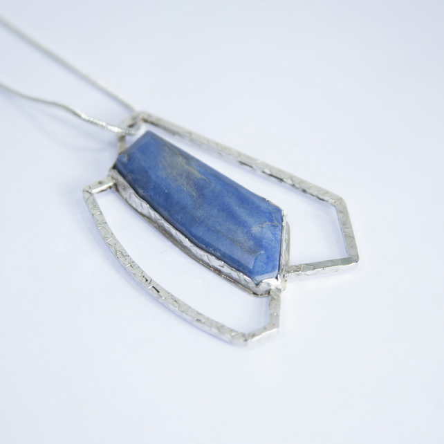Blue Aventurine OutlIne Pendant